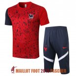 maillot france formation ensemble complet 2020-2021 rouge