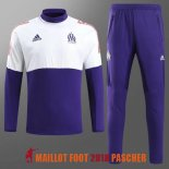 survetement marseille 2017-2018 col rond violet