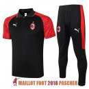 polo ensemble complet ac milan formation 2020-2021 rouge noir