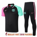 polo ensemble complet barcelone formation 2020-2021 noir vert rose